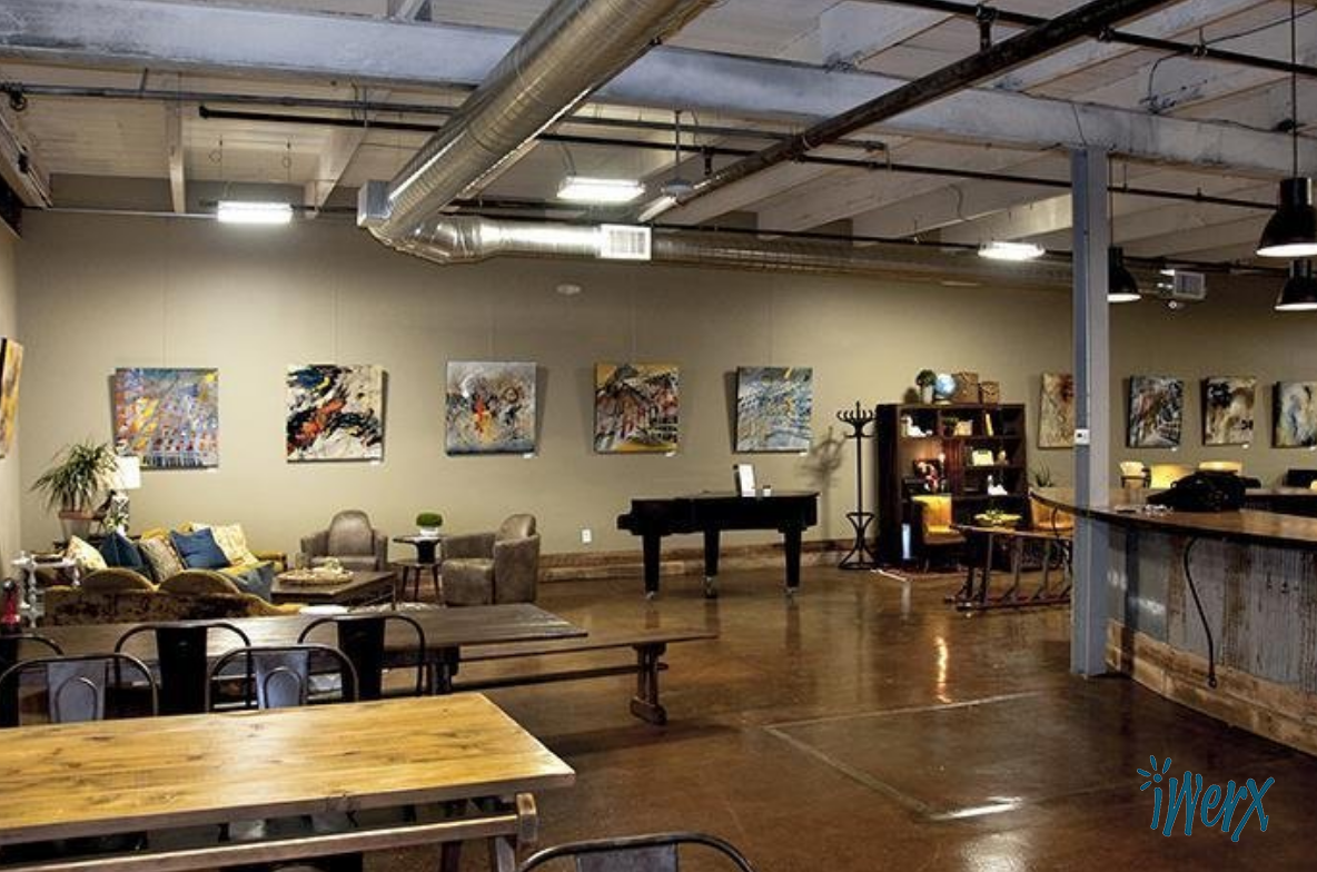 IWerx Infuses Color In Their New Space With Paintings By Artist Lynette Ubel