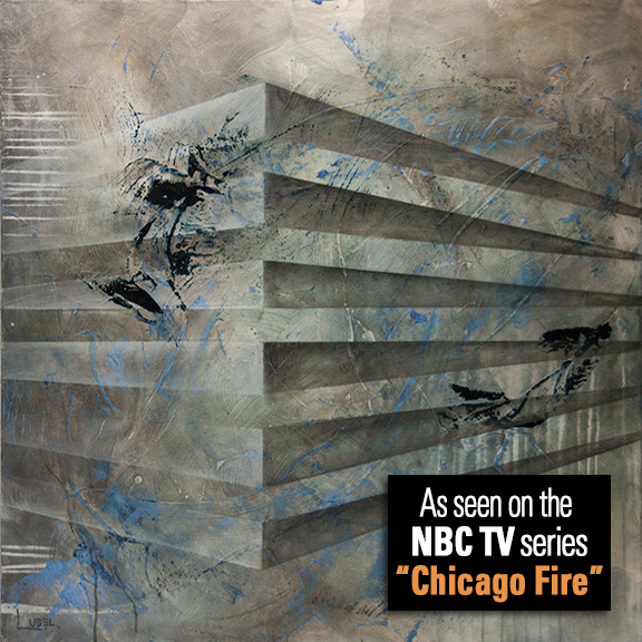 "Lynette Ubel's Painting ""ArchiTexture One"" Makes Its Way Onto The TV Series Chicago Fire"